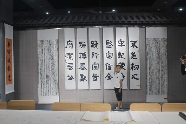 """""""书歌建党百年、墨舞合作情怀""""书画展在太原开幕"""